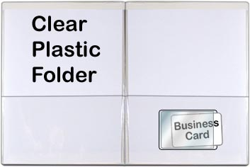 Peel and Stick 100 Pack STB222S-100 Business Card Clear Plastic Pocket