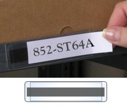 StoreSMART 50-Pack Peel /& Stick 1 x 4 Shelf Tag//Label Holders Open Both Short Sides SPCSTB2432SS-50