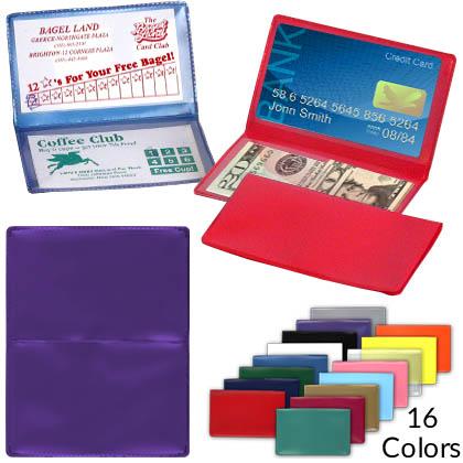 new york 9b234 2d4e8 Folding Business Card Holders - Archival Poly Plastic - Blank