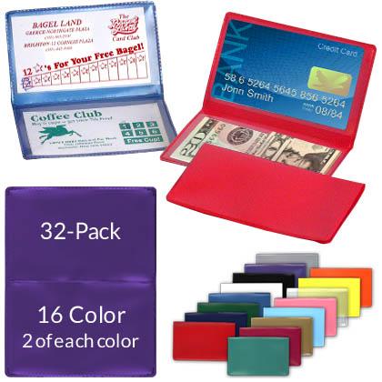 Details about  /Multi color Plastic Gift Card Holder 132