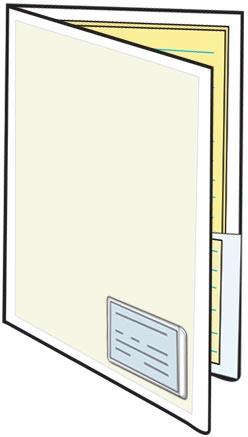 Clear Plastic Smart Folders Wbusiness Card Holder On Front Legal