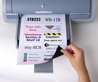 Printable Magnetic Backed Sheets 8 X 11 10 Scored Labels