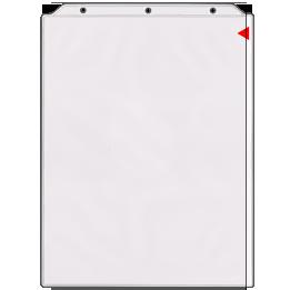 Flip Chart Easel Binder Portrait Vertical Black
