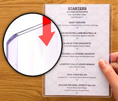 Menu Covers Amp Restaurant Storesmart Filing Organizing