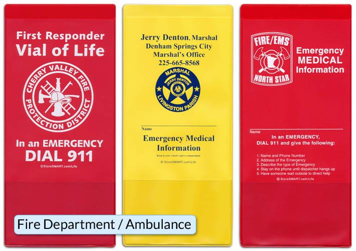Vial Of Life Emergency Information Pockets Storesmart
